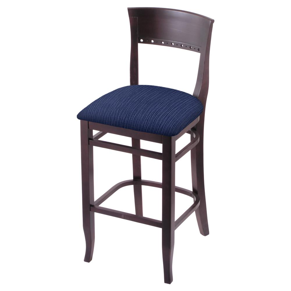 "3160 30"" Bar Stool with Dark Cherry Finish and Graph Anchor Seat. Picture 1"