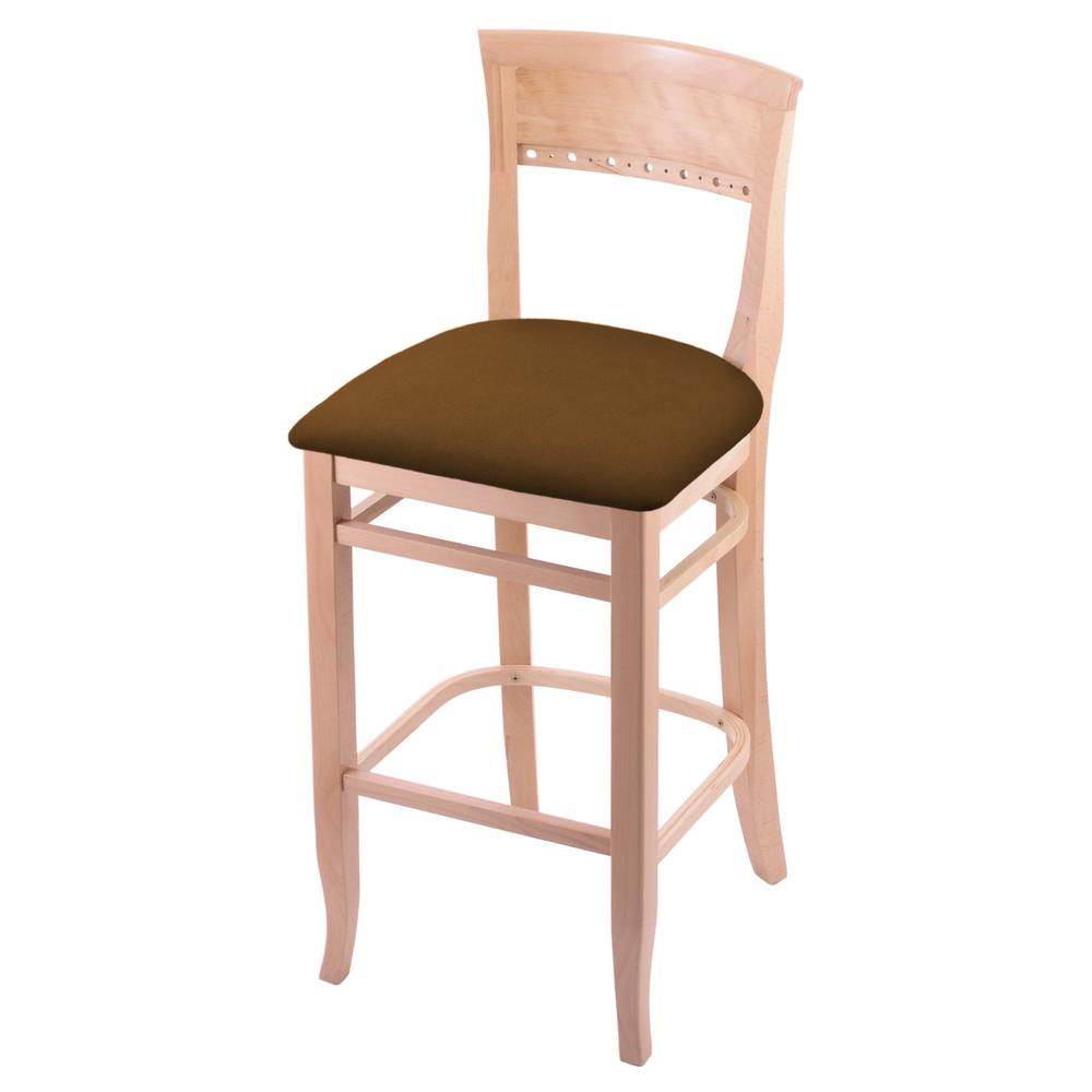 "3160 30"" Bar Stool with Natural Finish and Canter Thatch Seat. Picture 1"