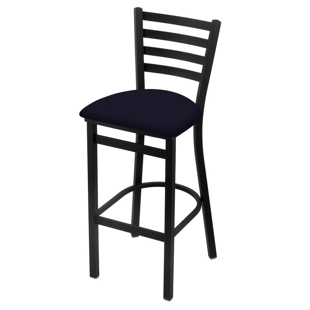 "400 30"" Stationary Bar Stool with Black Wrinkle Finish and Canter Twilight Seat. Picture 1"