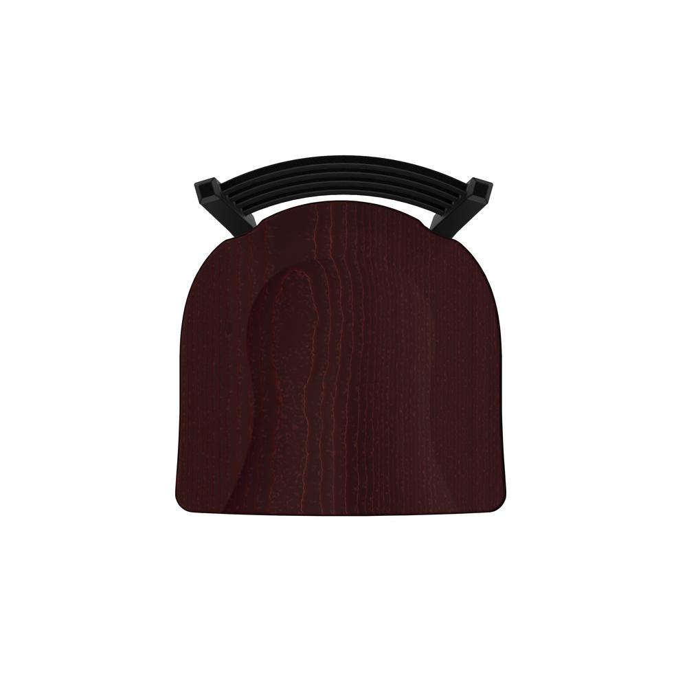 """400 30"""" Stationary Bar Stool with Black Wrinkle Finish and Dark Cherry Oak Seat. Picture 3"""