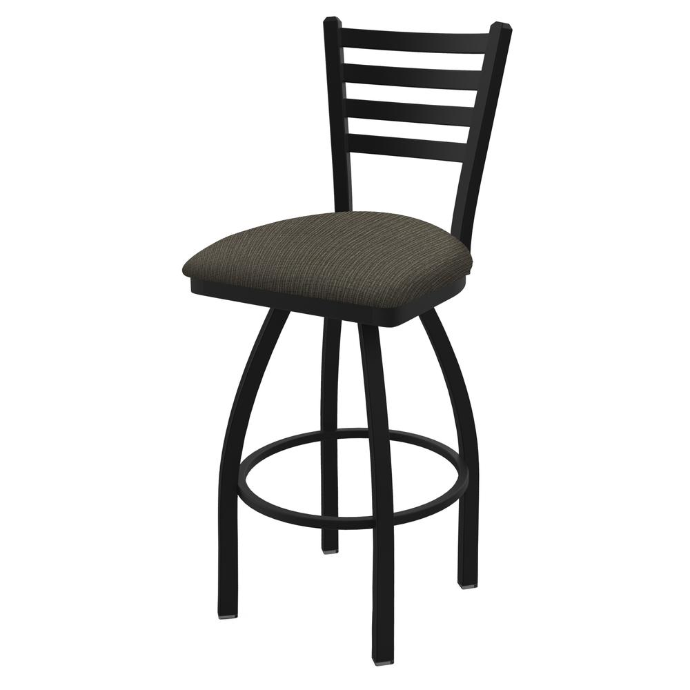 "410 Jackie 30"" Swivel Bar Stool with Black Wrinkle Finish and Graph Chalice Seat. Picture 1"