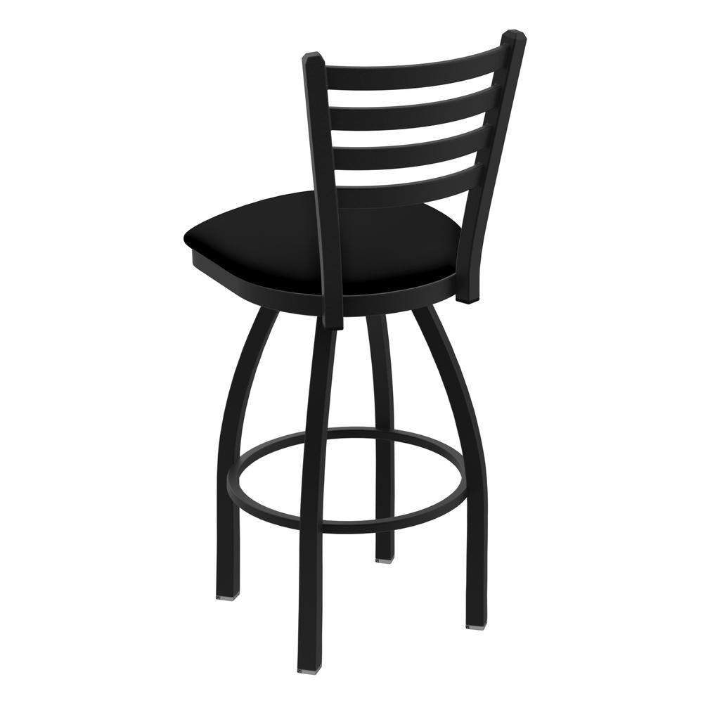 """410 Jackie 30"""" Swivel Bar Stool with Black Wrinkle Finish and Black Vinyl Seat. Picture 3"""