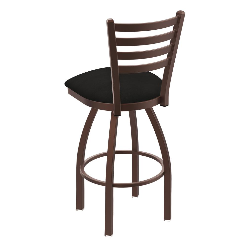 """410 Jackie 30"""" Swivel Bar Stool with Bronze Finish and Canter Espresso Seat. Picture 3"""