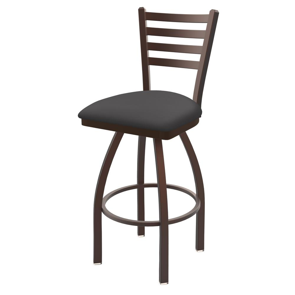 "410 Jackie 30"" Swivel Bar Stool with Bronze Finish and Canter Storm Seat. Picture 1"