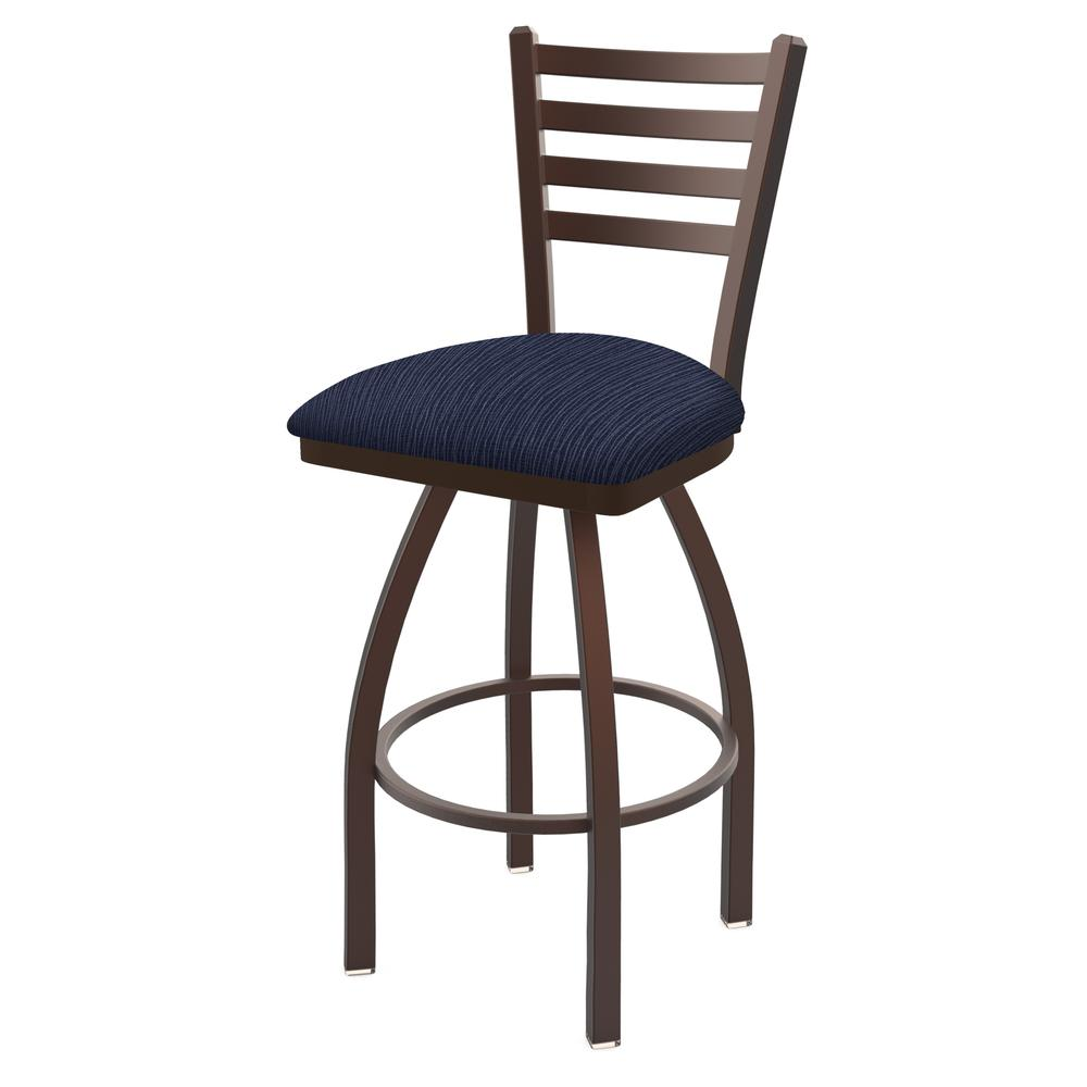 """410 Jackie 30"""" Swivel Bar Stool with Bronze Finish and Graph Anchor Seat. Picture 1"""