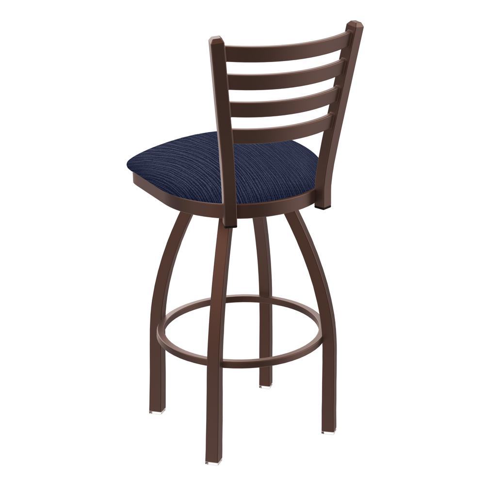 """410 Jackie 30"""" Swivel Bar Stool with Bronze Finish and Graph Anchor Seat. Picture 3"""