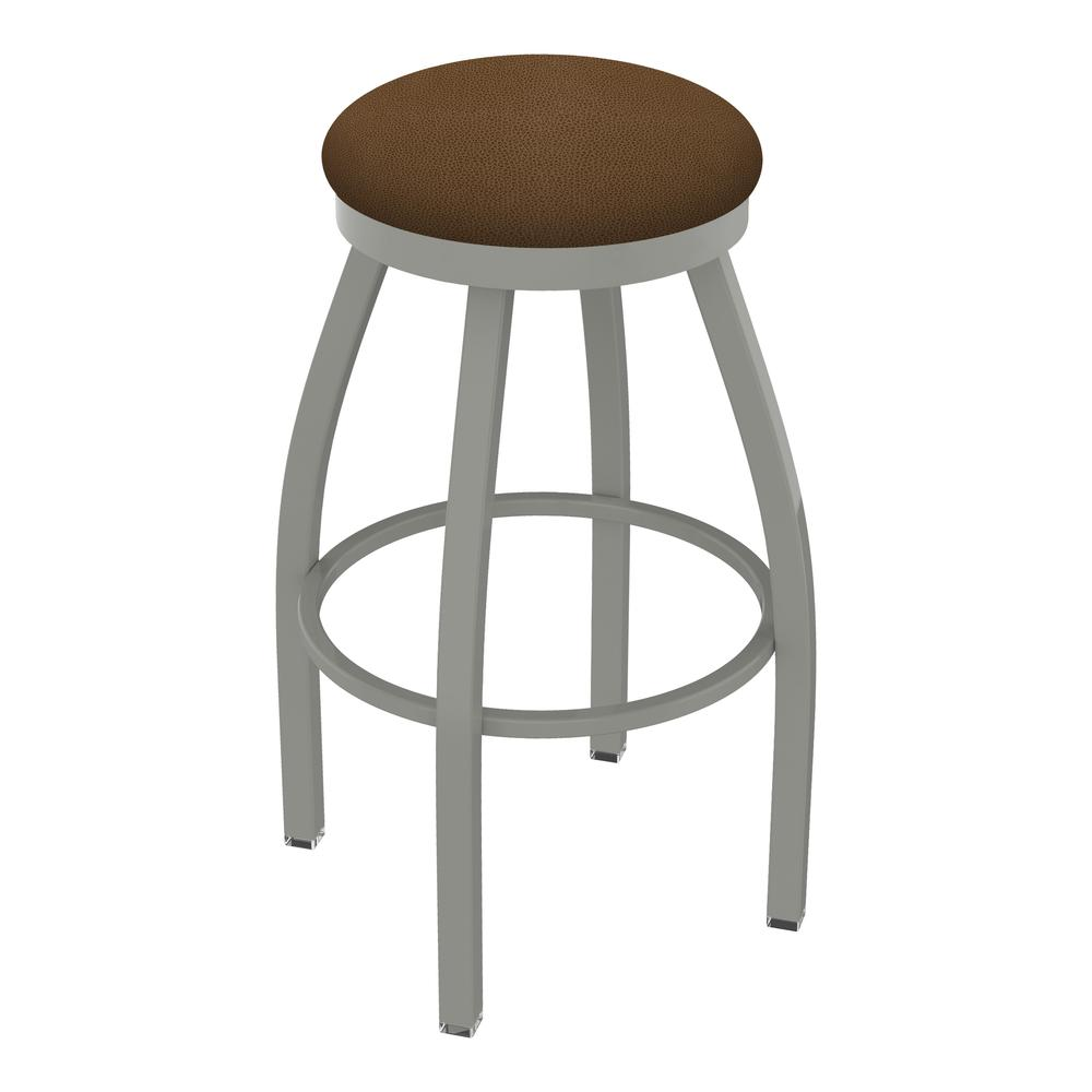 """802 Misha 30"""" Swivel Bar Stool with Anodized Nickel Finish and Rein Thatch Seat. Picture 1"""
