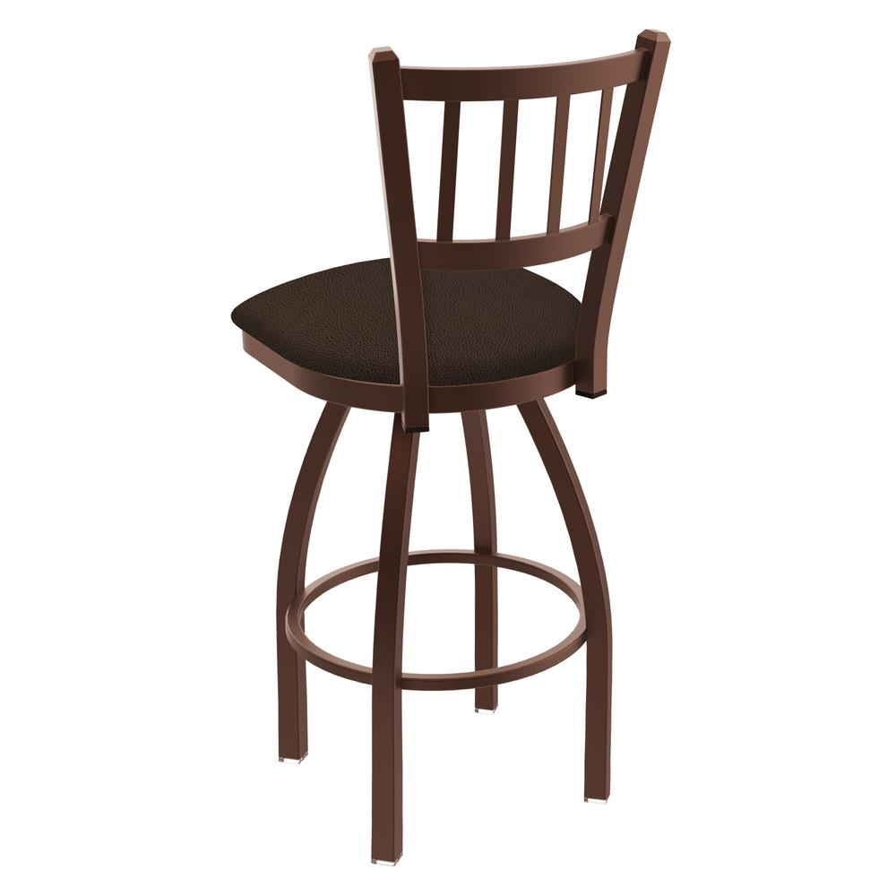 """810 Contessa 30"""" Swivel Bar Stool with Bronze Finish and Rein Coffee Seat. Picture 3"""