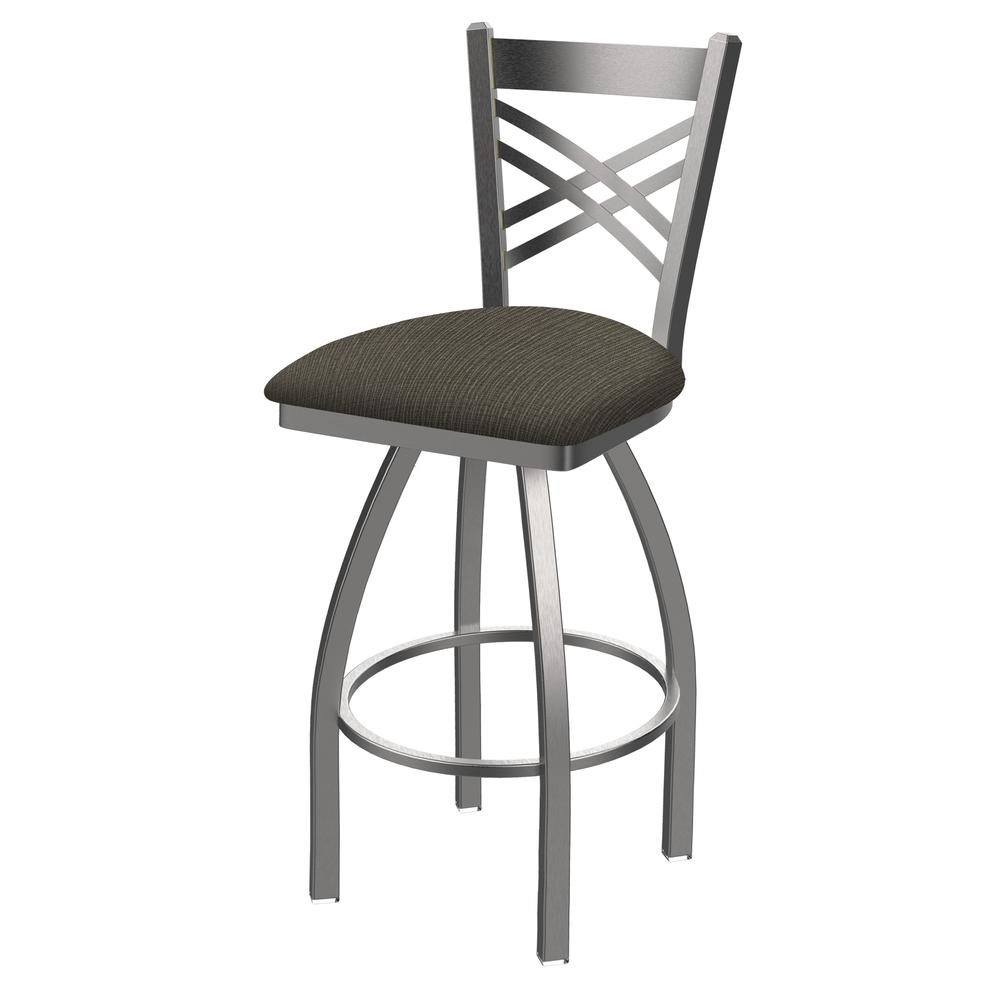 "820 Catalina 30"" Swivel Bar Stool with Stainless Finish and Graph Chalice Seat. Picture 1"