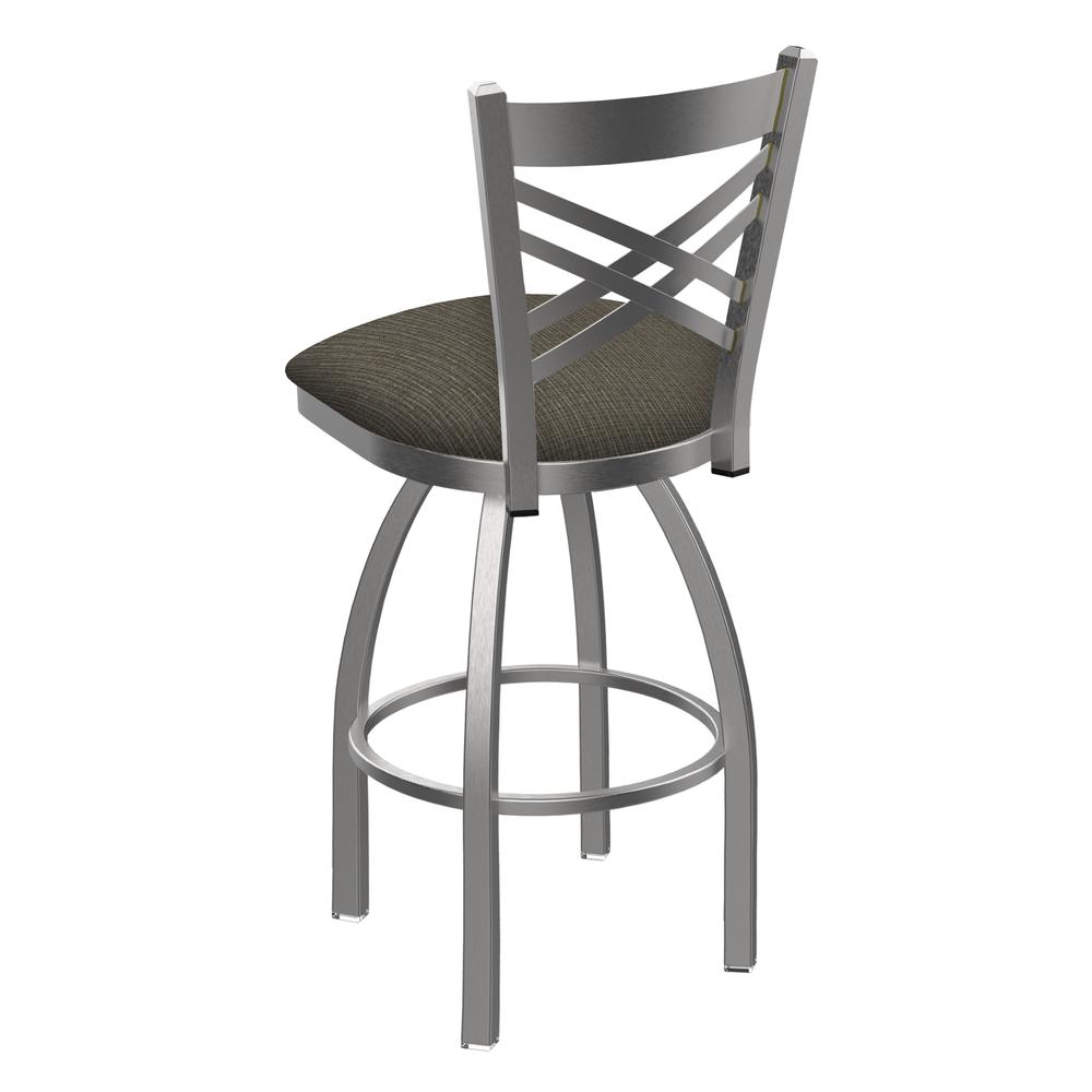 "820 Catalina 30"" Swivel Bar Stool with Stainless Finish and Graph Chalice Seat. Picture 3"