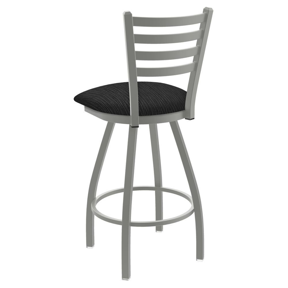 """XL 410 Jackie 30"""" Swivel Bar Stool with Anodized Nickel Finish and Graph Coal Seat. Picture 3"""