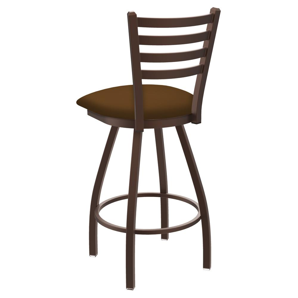 """XL 410 Jackie 30"""" Swivel Bar Stool with Bronze Finish and Canter Thatch Seat. Picture 3"""