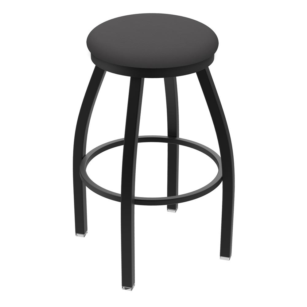 """XL 802 Misha 25"""" Swivel Counter Stool with Black Wrinkle Finish and Canter Storm Seat. Picture 1"""