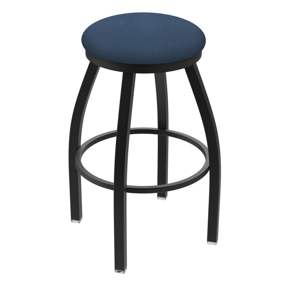 """XL 802 Misha 25"""" Swivel Counter Stool with Black Wrinkle Finish and Rein Bay Seat. Picture 1"""