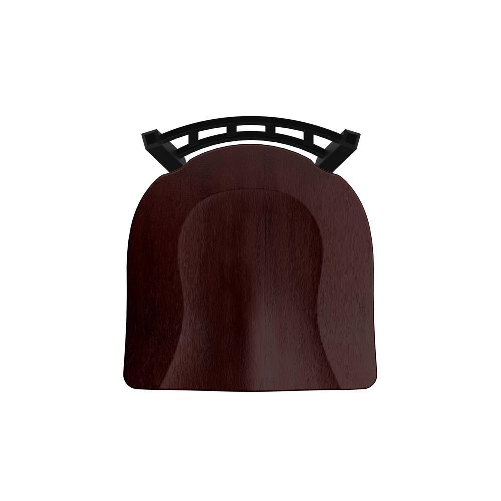 """XL 810 Contessa 30"""" Swivel Bar Stool with Black Wrinkle Finish and Dark Cherry Maple Seat. Picture 3"""