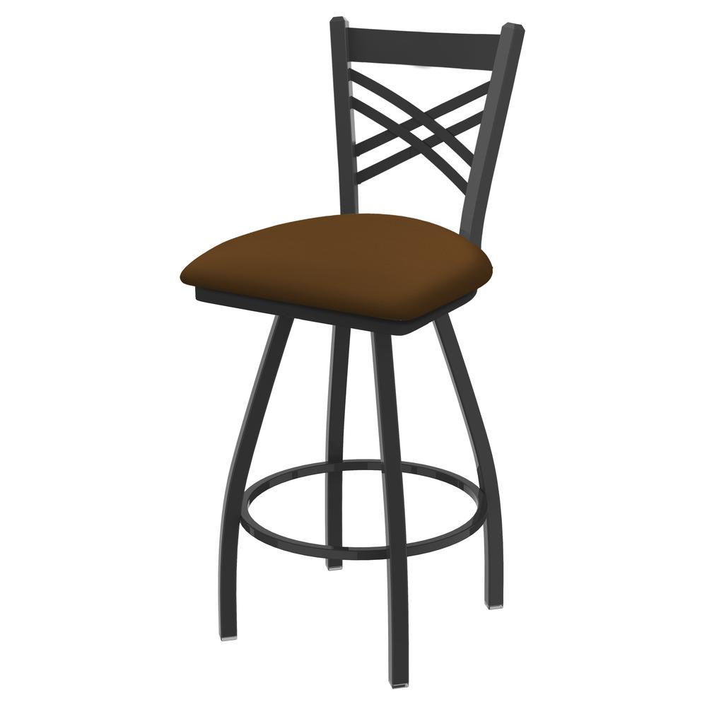 """XL 820 Catalina 25"""" Swivel Counter Stool with Pewter Finish and Canter Thatch Seat. Picture 1"""