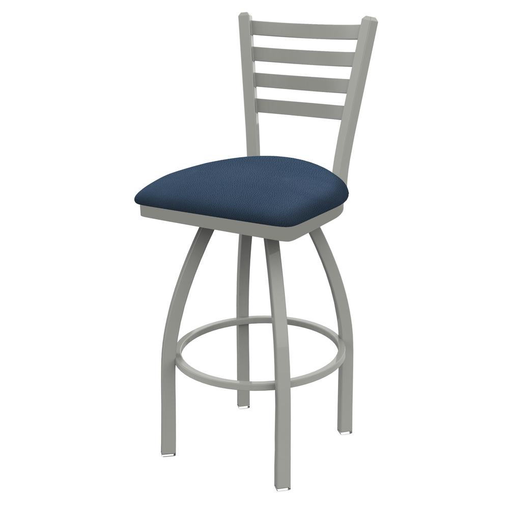 """410 Jackie 36"""" Swivel Bar Stool with Anodized Nickel Finish and Rein Bay Seat. Picture 1"""
