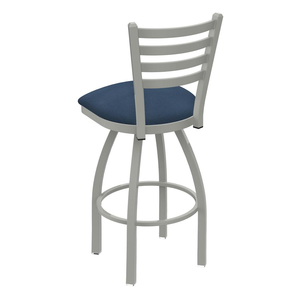 """410 Jackie 36"""" Swivel Bar Stool with Anodized Nickel Finish and Rein Bay Seat. Picture 3"""