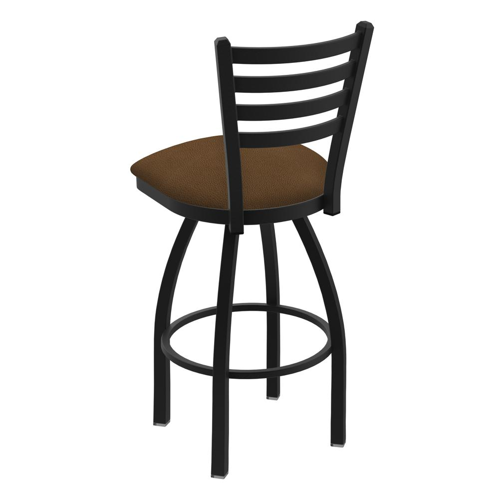 """410 Jackie 36"""" Swivel Bar Stool with Black Wrinkle Finish and Rein Thatch Seat. Picture 3"""