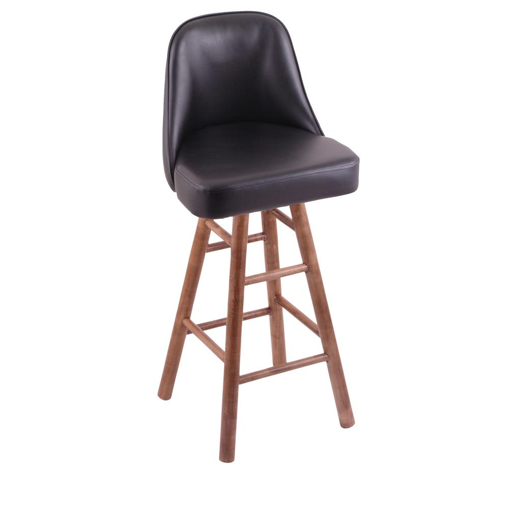 """Grizzly 36"""" Swivel Extra Tall Bar Stool with Smooth Maple Legs, Medium Finish. Picture 1"""