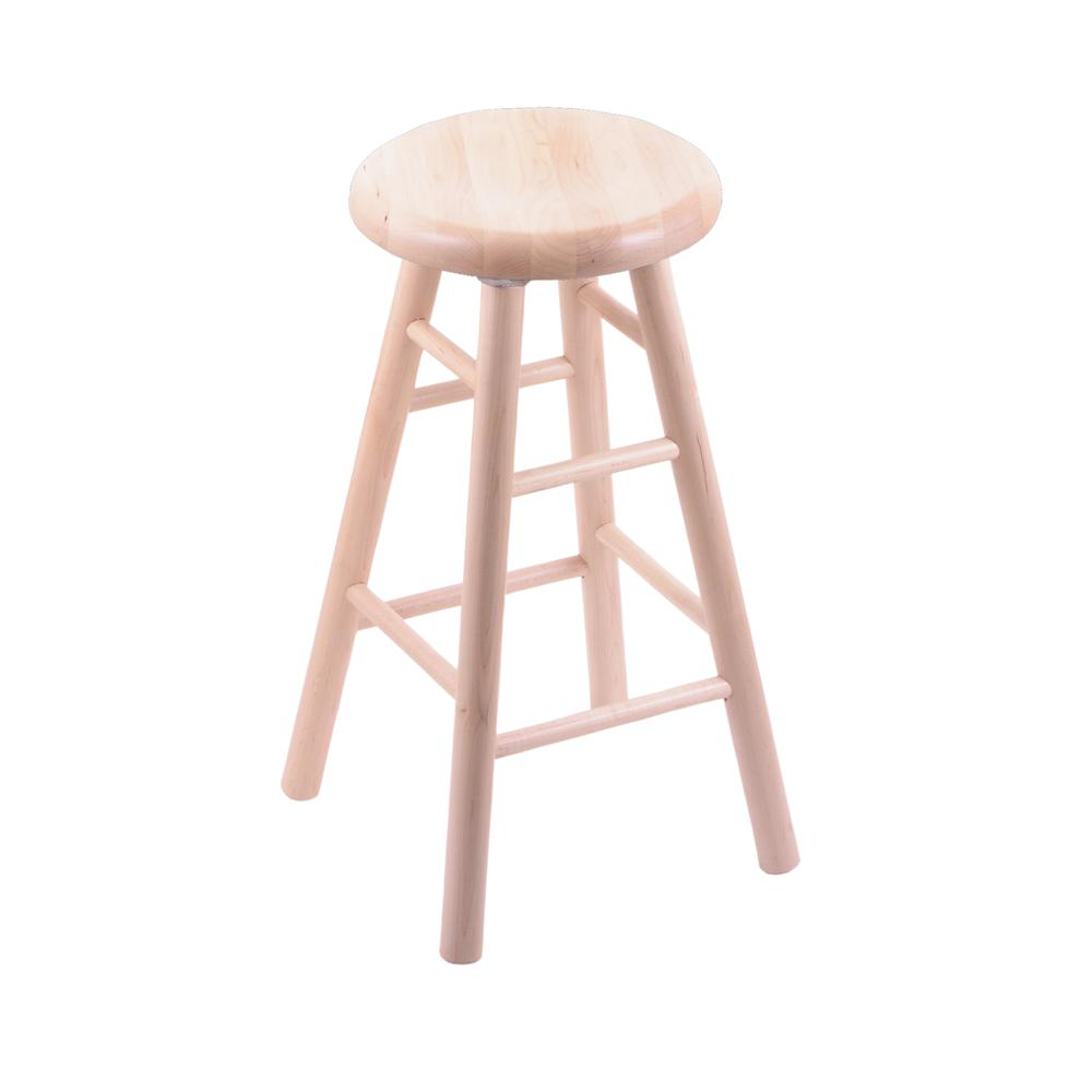"Maple Saddle Dish 36"" Swivel Extra Tall Bar Stool with Smooth Legs, Natural Finish. Picture 1"