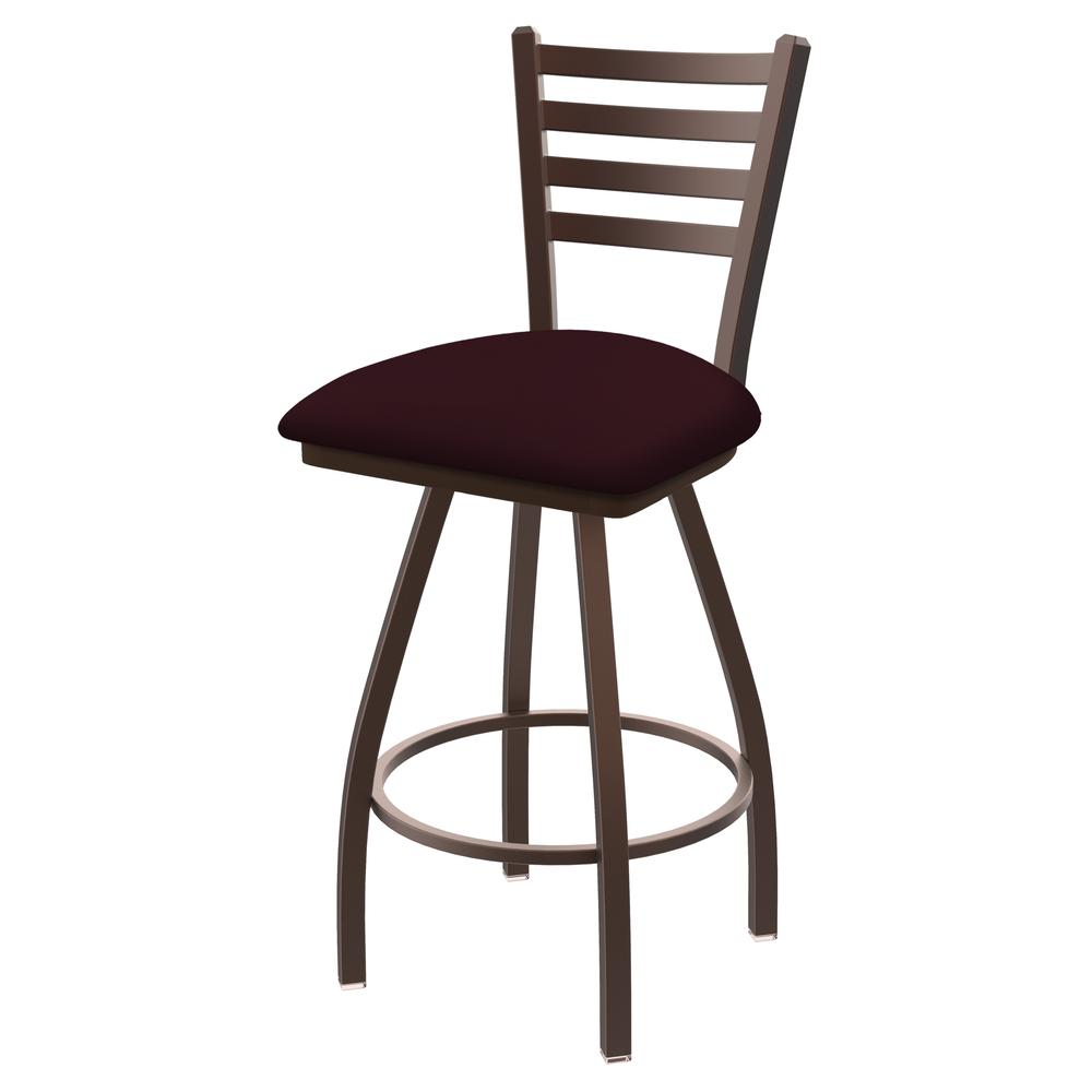 """XL 410 Jackie 36"""" Swivel Extra Tall Bar Stool with Bronze Finish and Canter Bordeaux Seat. Picture 1"""