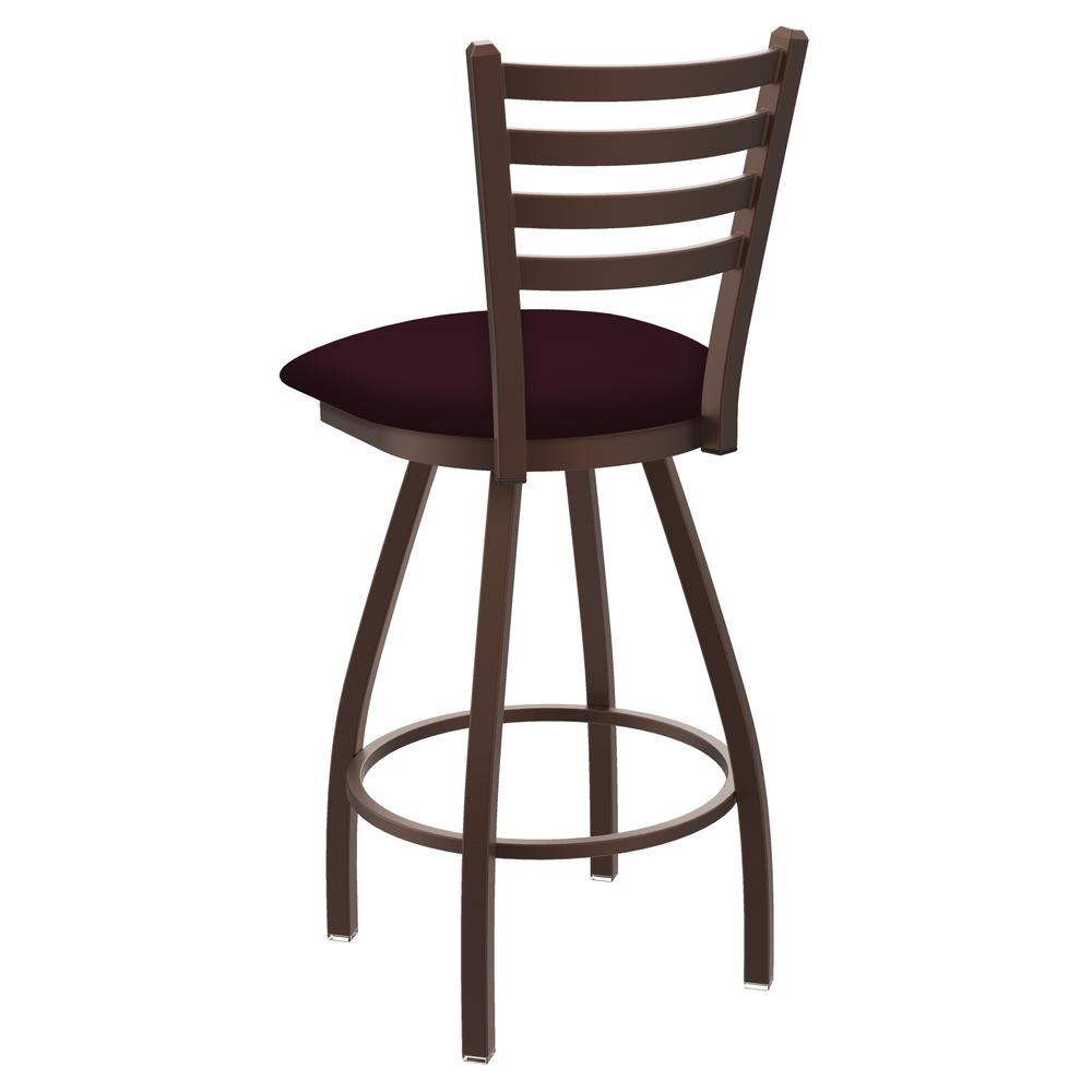 """XL 410 Jackie 36"""" Swivel Extra Tall Bar Stool with Bronze Finish and Canter Bordeaux Seat. Picture 3"""