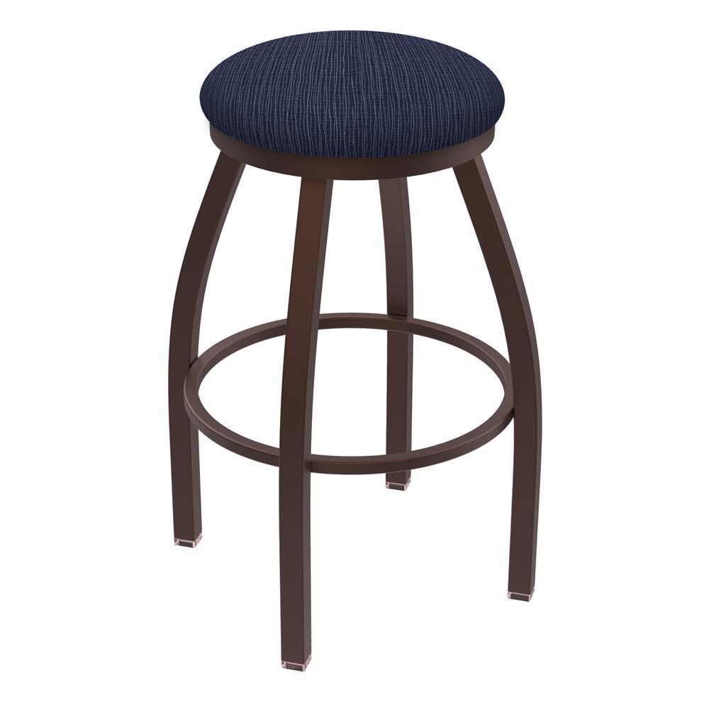 "XL 802 Misha 30"" Swivel Bar Stool with Bronze Finish and Graph Anchor Seat. The main picture."