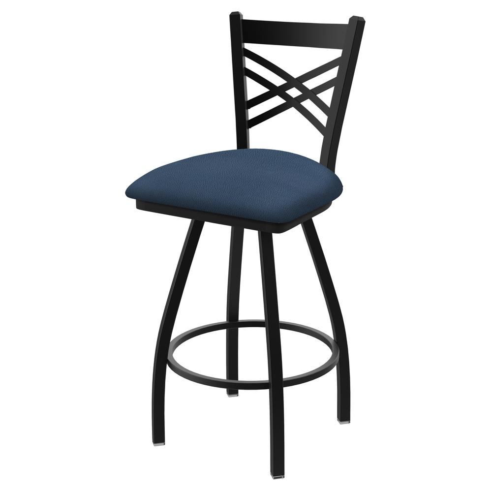 """XL 820 Catalina 30"""" Swivel Bar Stool with Black Wrinkle Finish and Rein Bay Seat. Picture 1"""