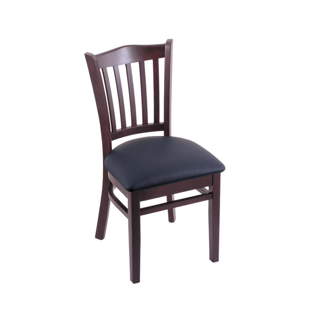 3120 18 Quot Chair With Dark Cherry Finish Allante Dark Blue Seat