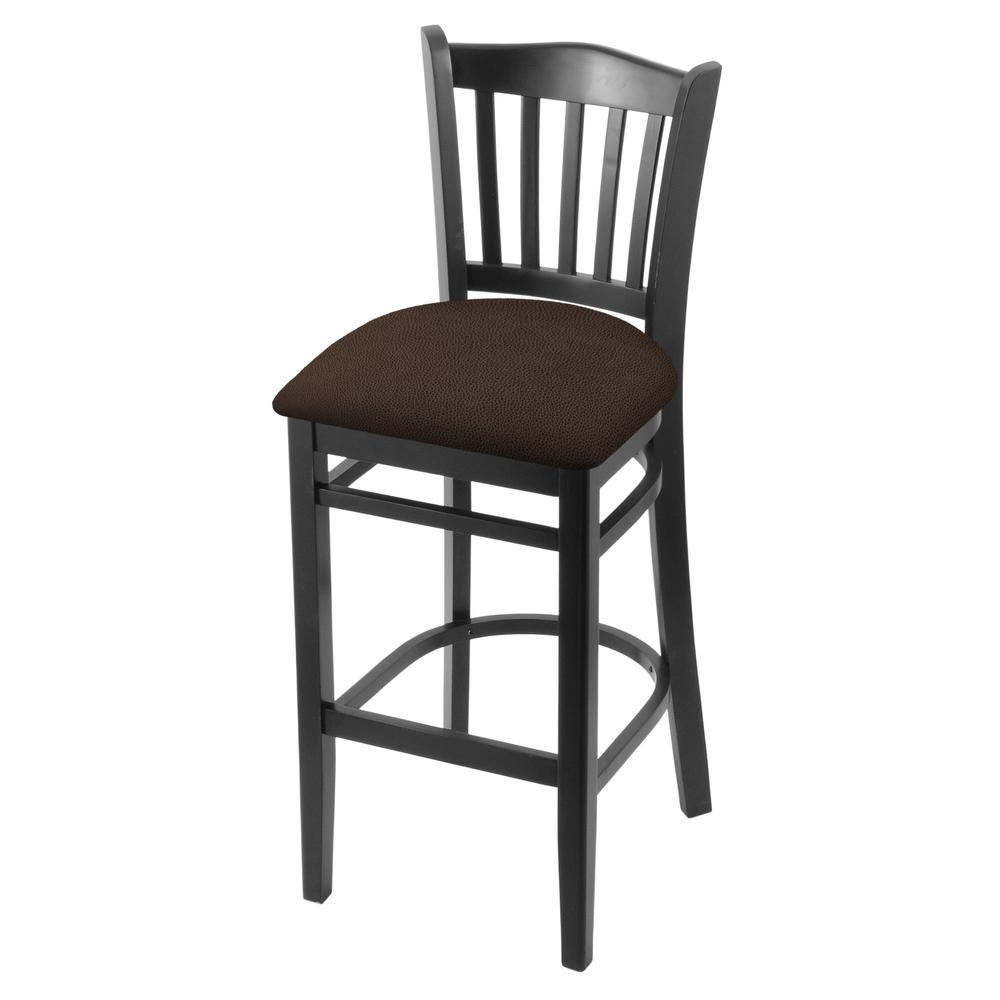"""3120 25"""" Counter Stool with Black Finish and Rein Coffee Seat. Picture 1"""