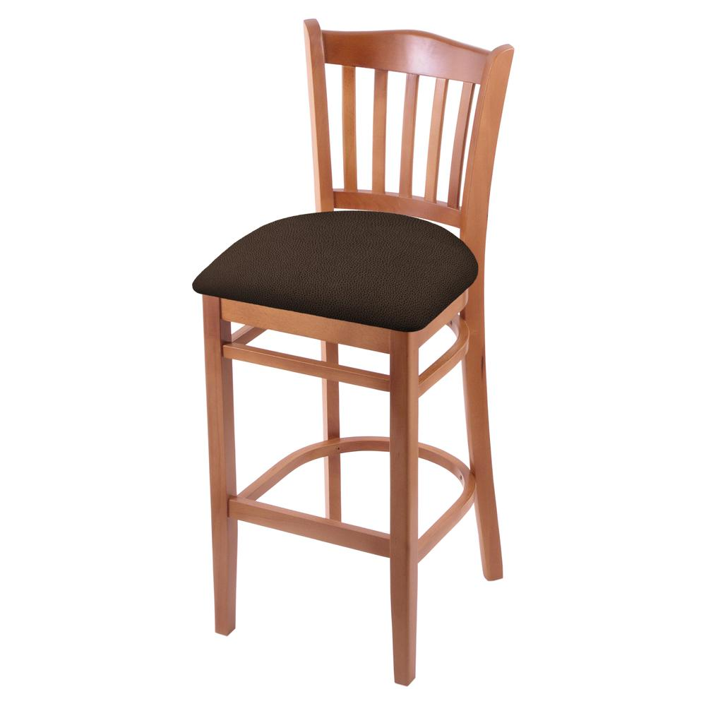 """3120 25"""" Counter Stool with Medium Finish and Rein Coffee Seat. Picture 1"""