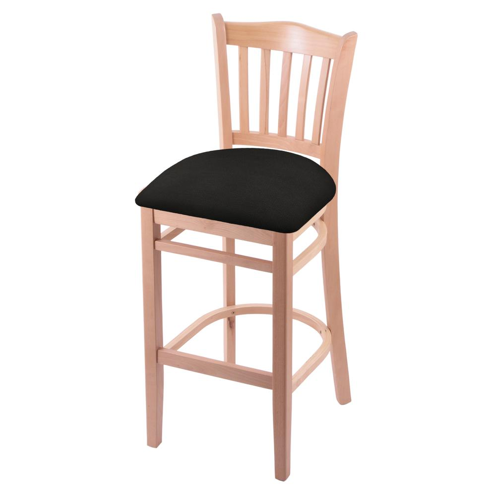 """3120 25"""" Counter Stool with Natural Finish and Canter Espresso Seat. Picture 1"""