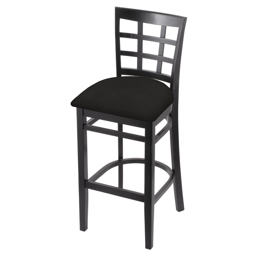 """3130 25"""" Counter Stool with Black Finish and Canter Espresso Seat. Picture 1"""