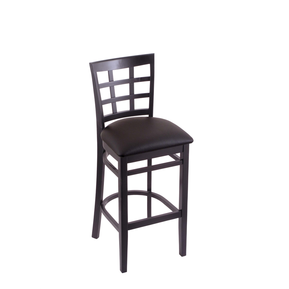 3130 30 Quot Stool With Black Finish Allante Espresso Seat