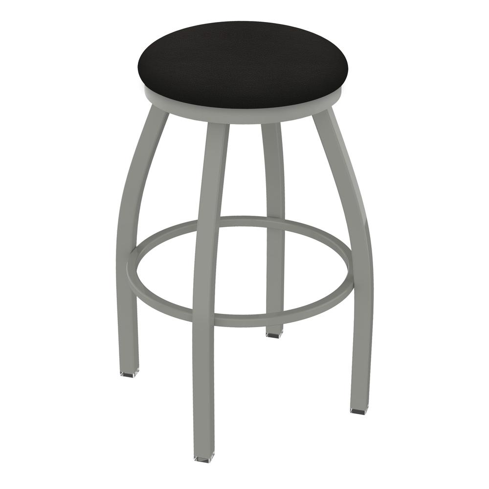 """XL 802 Misha 36"""" Swivel Extra Tall Bar Stool with Anodized Nickel Finish and Canter Espresso Seat. Picture 1"""