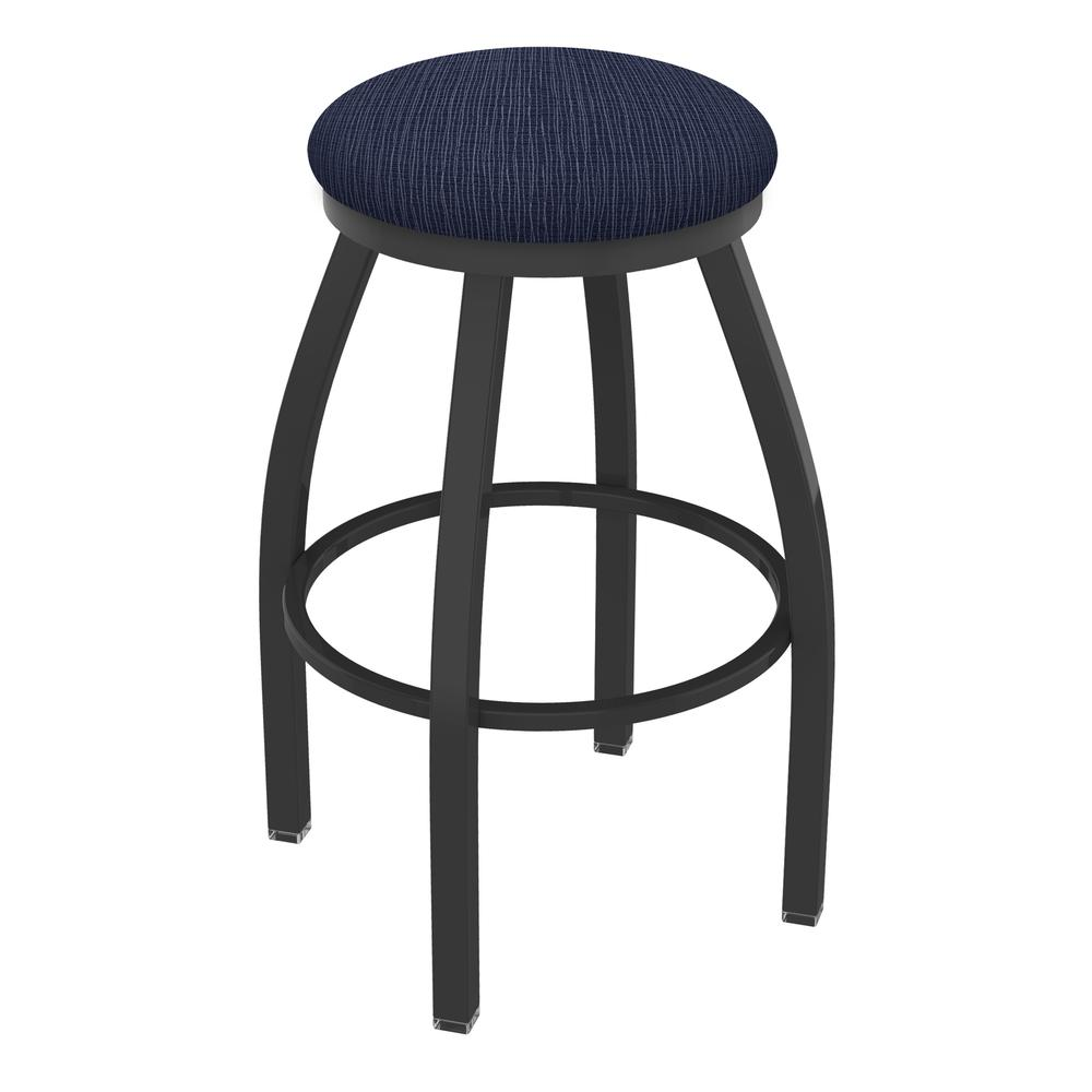 """XL 802 Misha 36"""" Swivel Extra Tall Bar Stool with Pewter Finish and Graph Anchor Seat. Picture 1"""