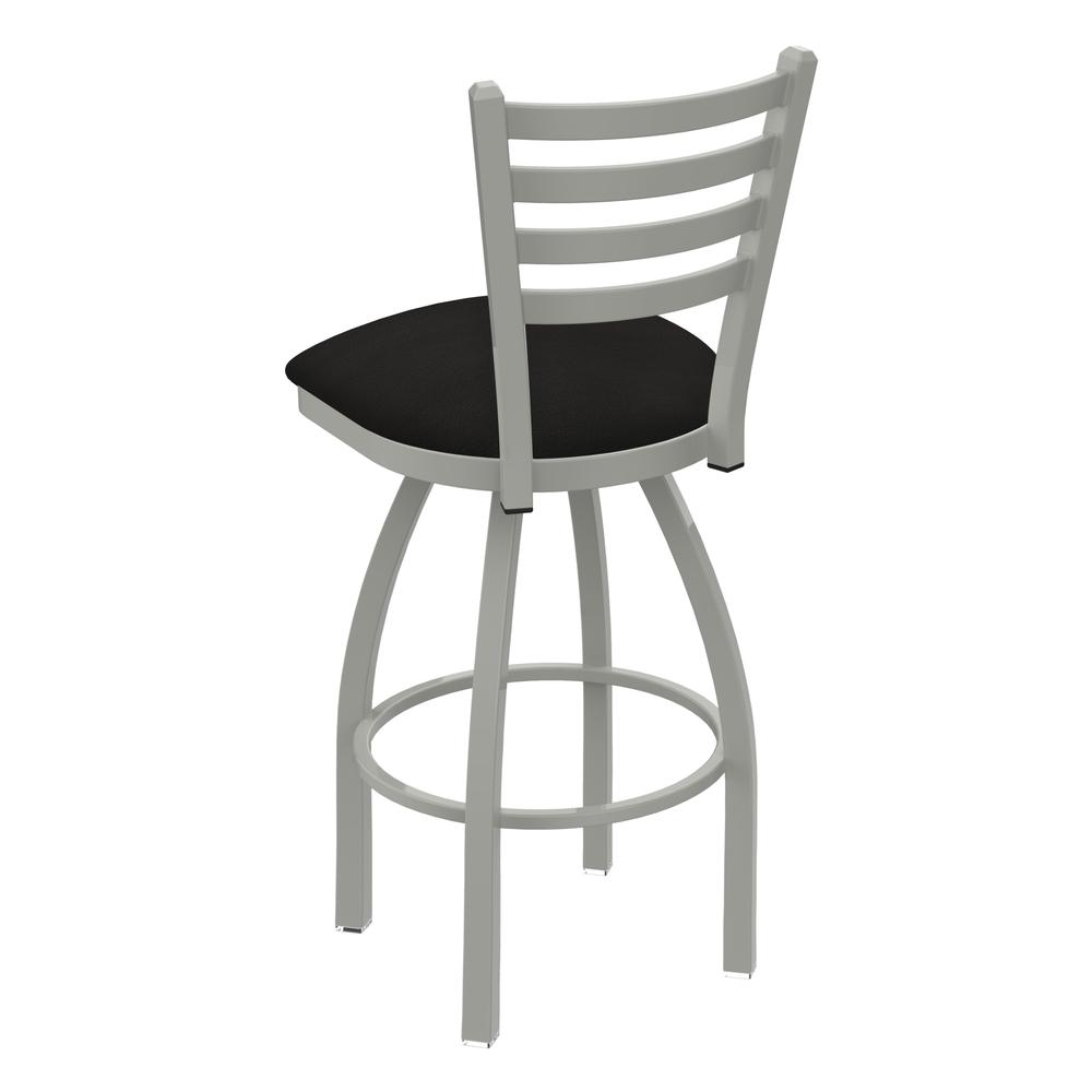 """410 Jackie 25"""" Swivel Counter Stool with Anodized Nickel Finish and Canter Espresso Seat. Picture 3"""