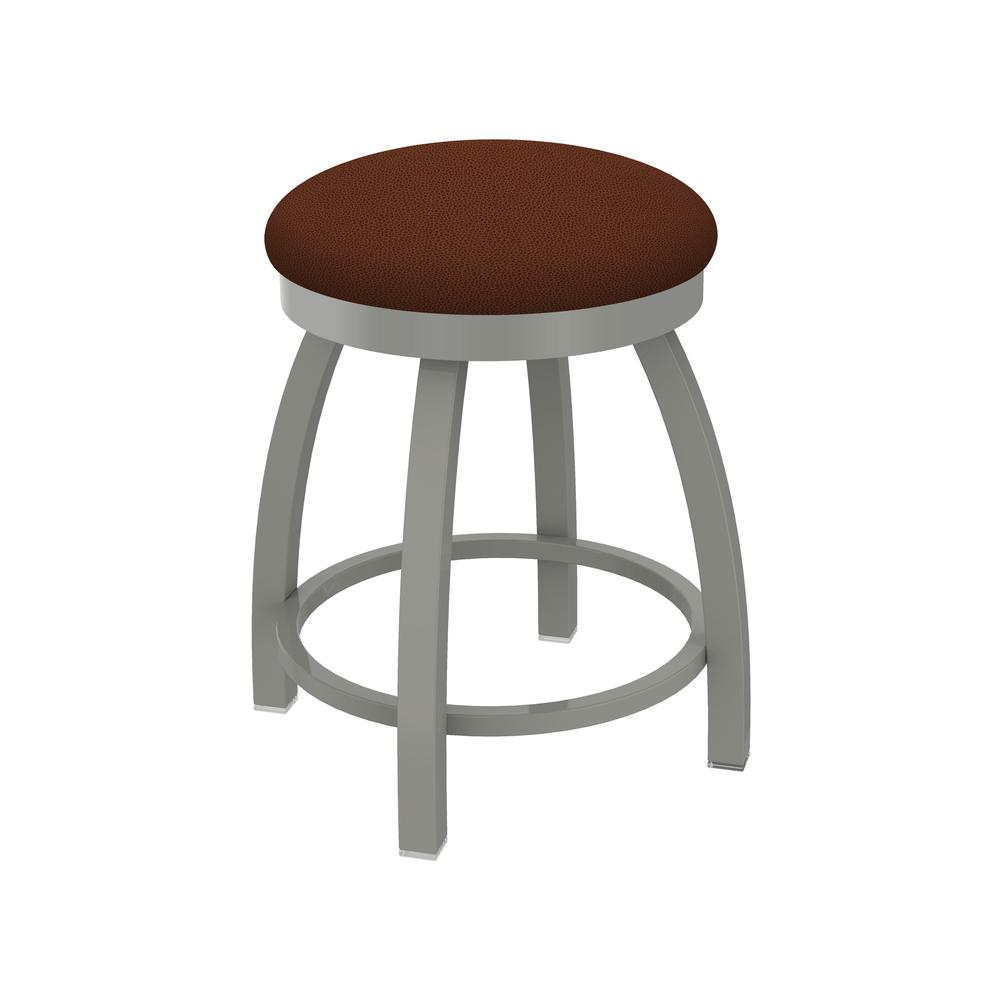 "802 Misha 18"" Swivel Vanity Stool with Anodized Nickel Finish and Rein Adobe Seat"