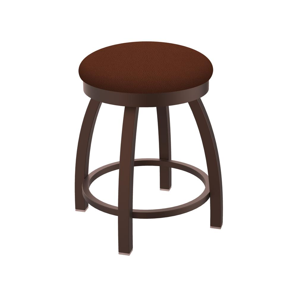 """802 Misha 18"""" Swivel Vanity Stool with Bronze Finish and Rein Adobe Seat. Picture 1"""