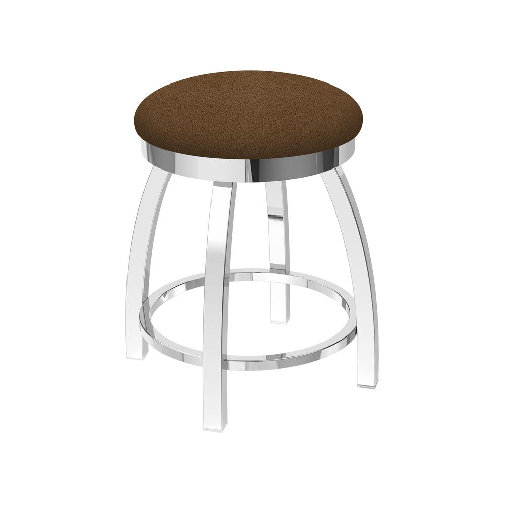 "802 Misha 18"" Swivel Vanity Stool with Chrome Finish and Rein Thatch Seat"