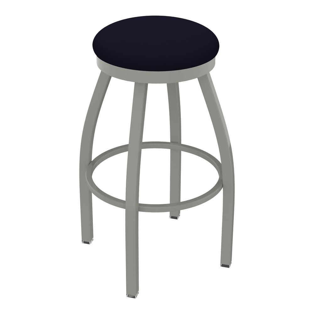 "802 Misha 25"" Swivel Counter Stool with Anodized Nickel Finish and Canter Twilight Seat. Picture 1"