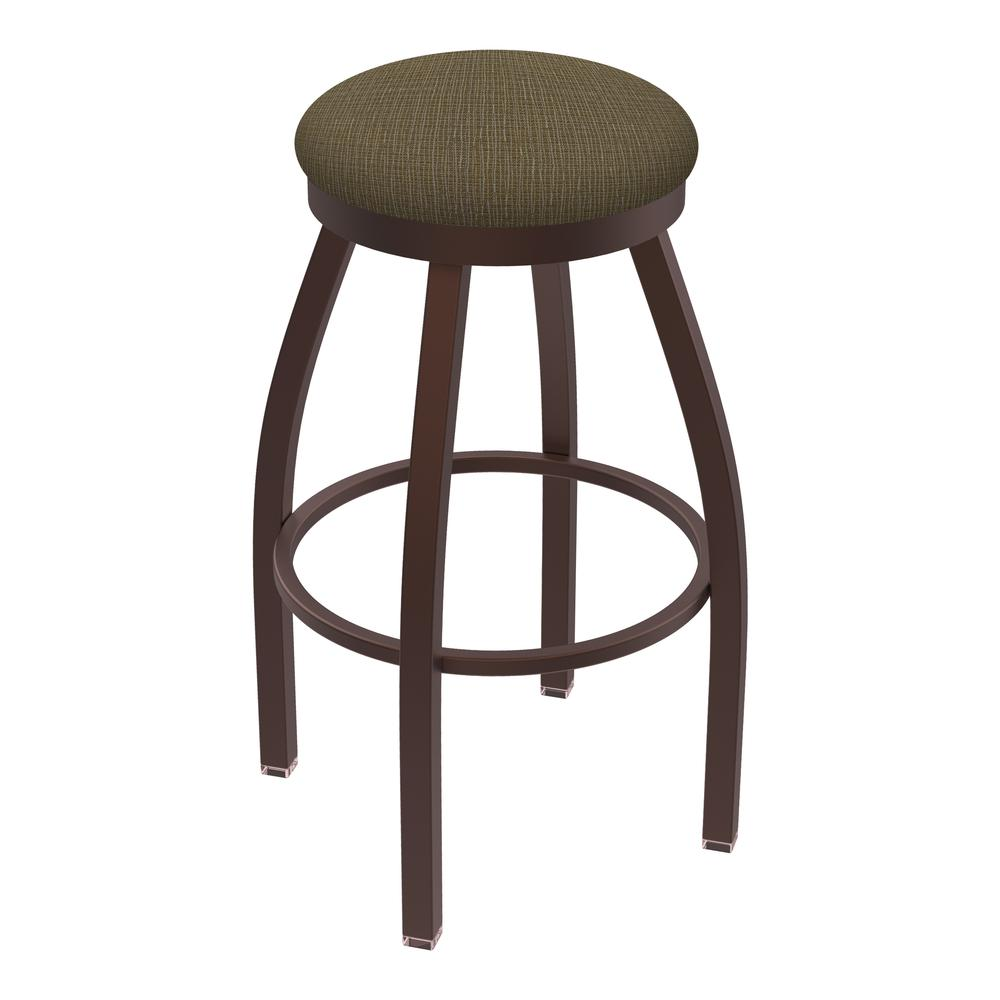 """802 Misha 25"""" Swivel Counter Stool with Bronze Finish and Graph Cork Seat. Picture 1"""