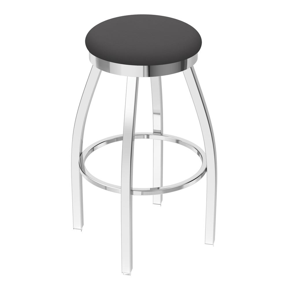 "802 Misha 25"" Swivel Counter Stool with Chrome Finish and Canter Storm Seat. Picture 1"