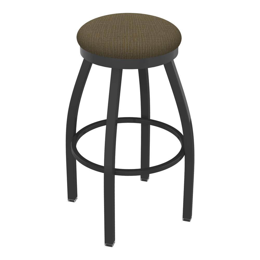 "802 Misha 25"" Swivel Counter Stool with Pewter Finish and Graph Cork Seat. The main picture."