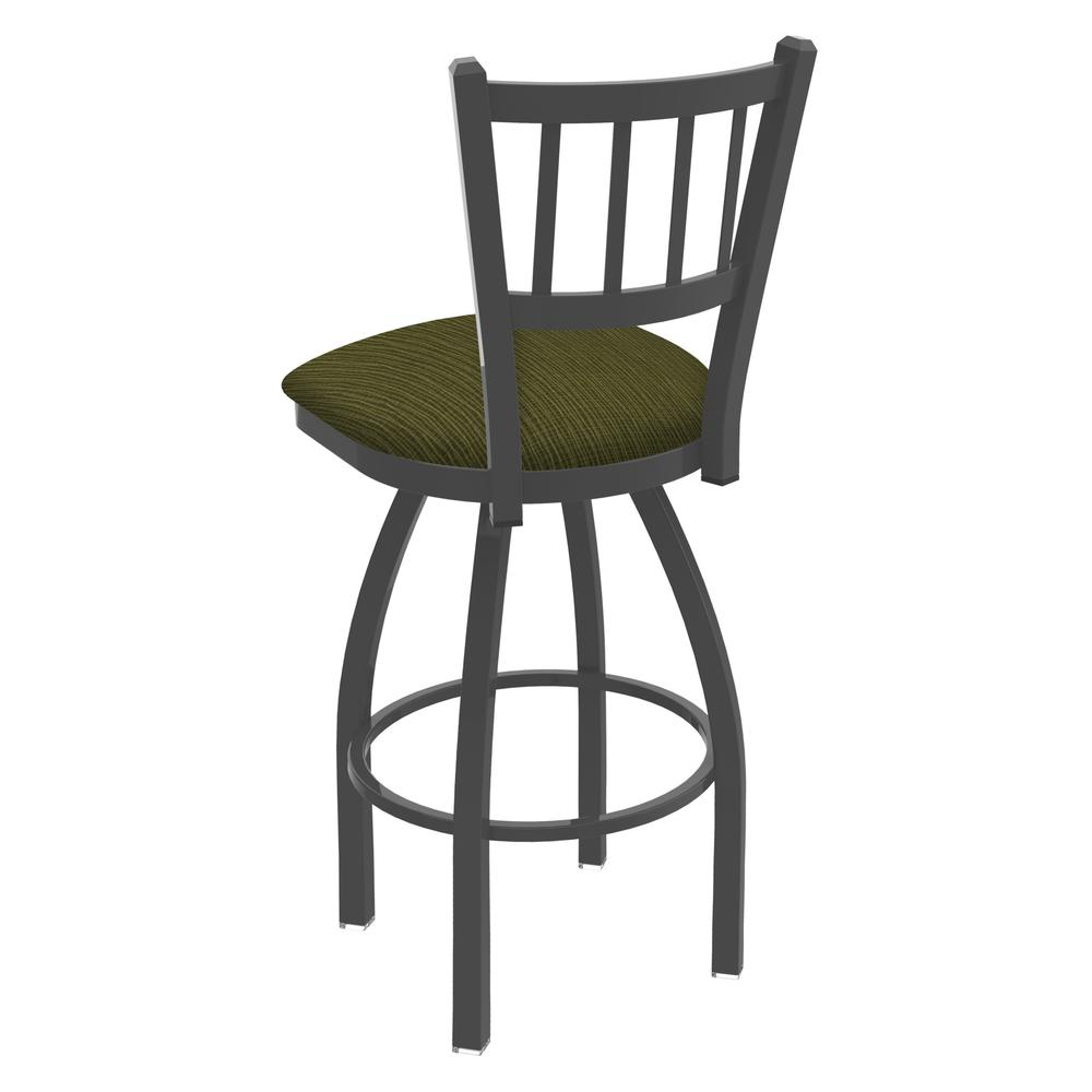 """810 Contessa 25"""" Swivel Counter Stool with Pewter Finish and Graph Parrot Seat. Picture 3"""