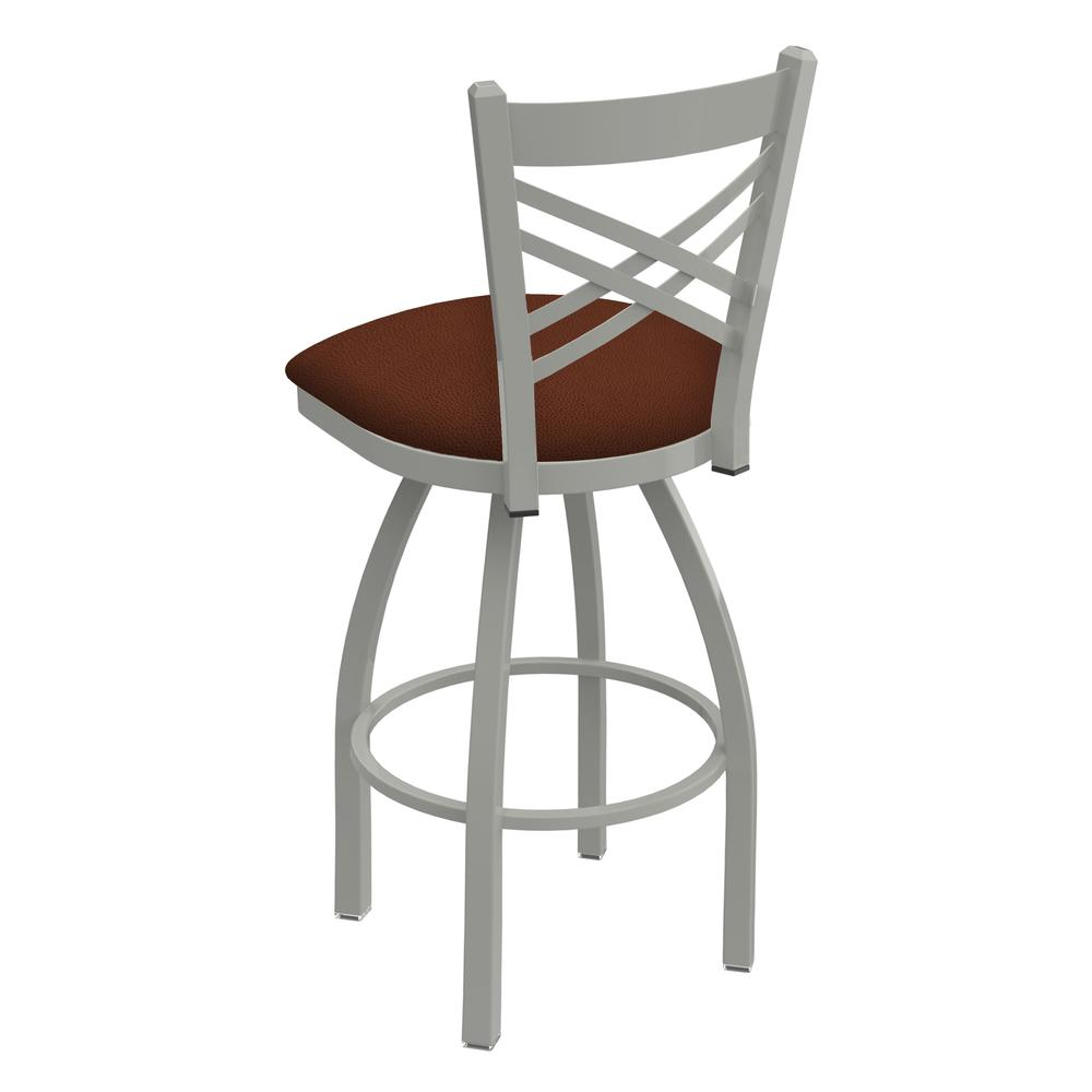 """820 Catalina 30"""" Swivel Bar Stool with Anodized Nickel Finish and Rein Adobe Seat. Picture 3"""