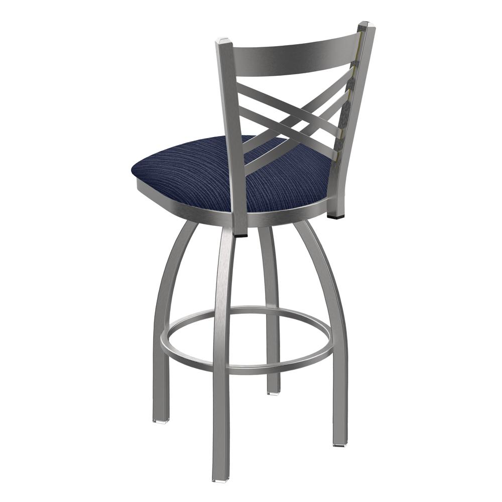 """820 Catalina 25"""" Swivel Counter Stool with Stainless Finish and Graph Anchor Seat. Picture 3"""