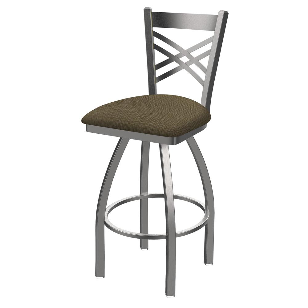 """820 Catalina 25"""" Swivel Counter Stool with Stainless Finish and Graph Cork Seat. Picture 1"""