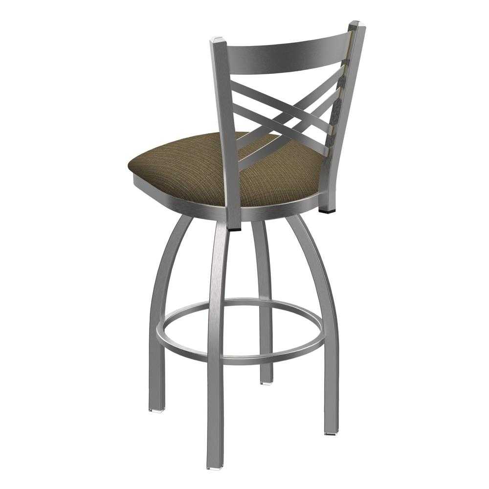 """820 Catalina 25"""" Swivel Counter Stool with Stainless Finish and Graph Cork Seat. Picture 3"""